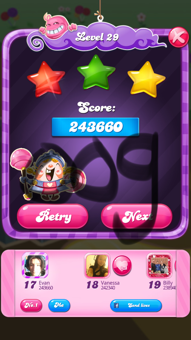 Candy Crush Saga: Level 029 243,660 points