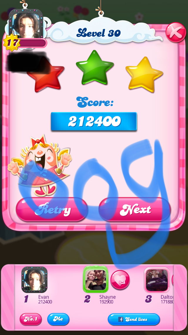 Candy Crush Saga: Level 030 212,400 points