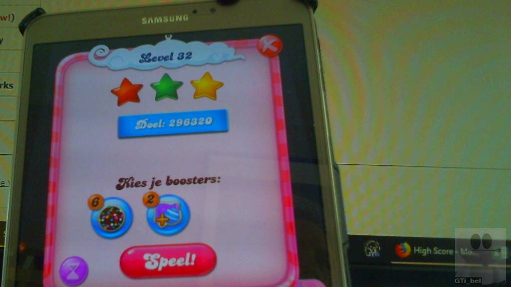 GTibel: Candy Crush Saga: Level 032 (Android) 296,320 points on 2018-03-03 08:18:37
