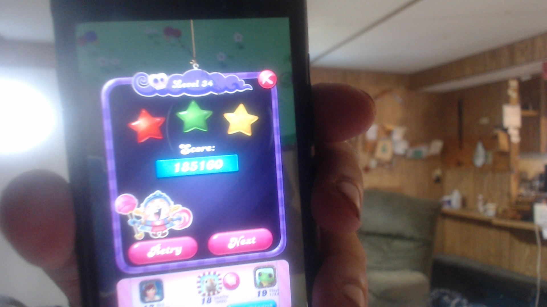 Candy Crush Saga: Level 034 185,160 points
