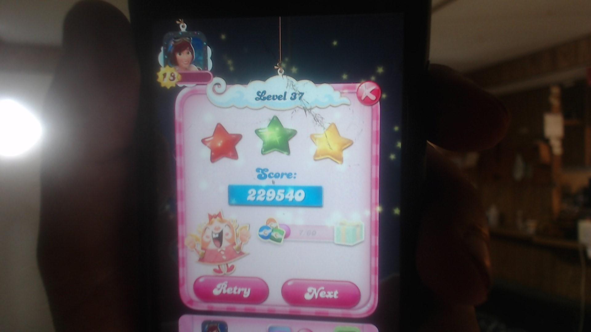 speedy4759123: Candy Crush Saga: Level 037 (iOS) 229,540 points on 2019-07-17 10:43:38