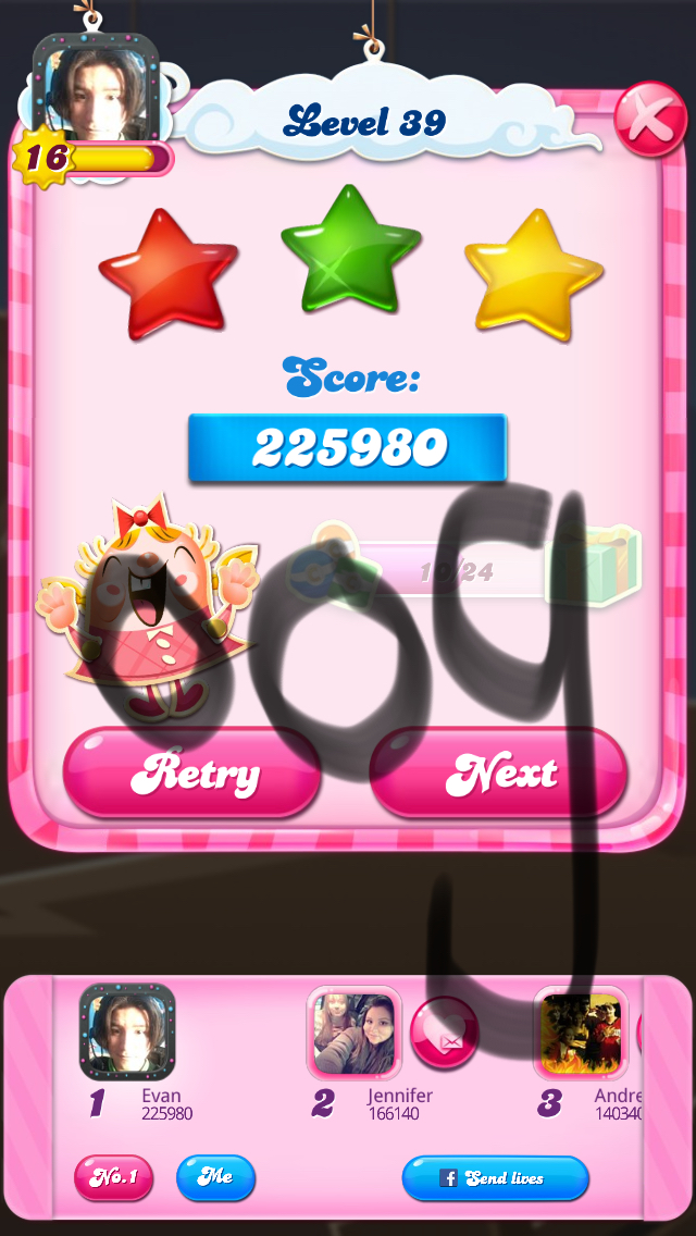 OOG: Candy Crush Saga: Level 039 (iOS) 225,980 points on 2018-03-20 16:51:54