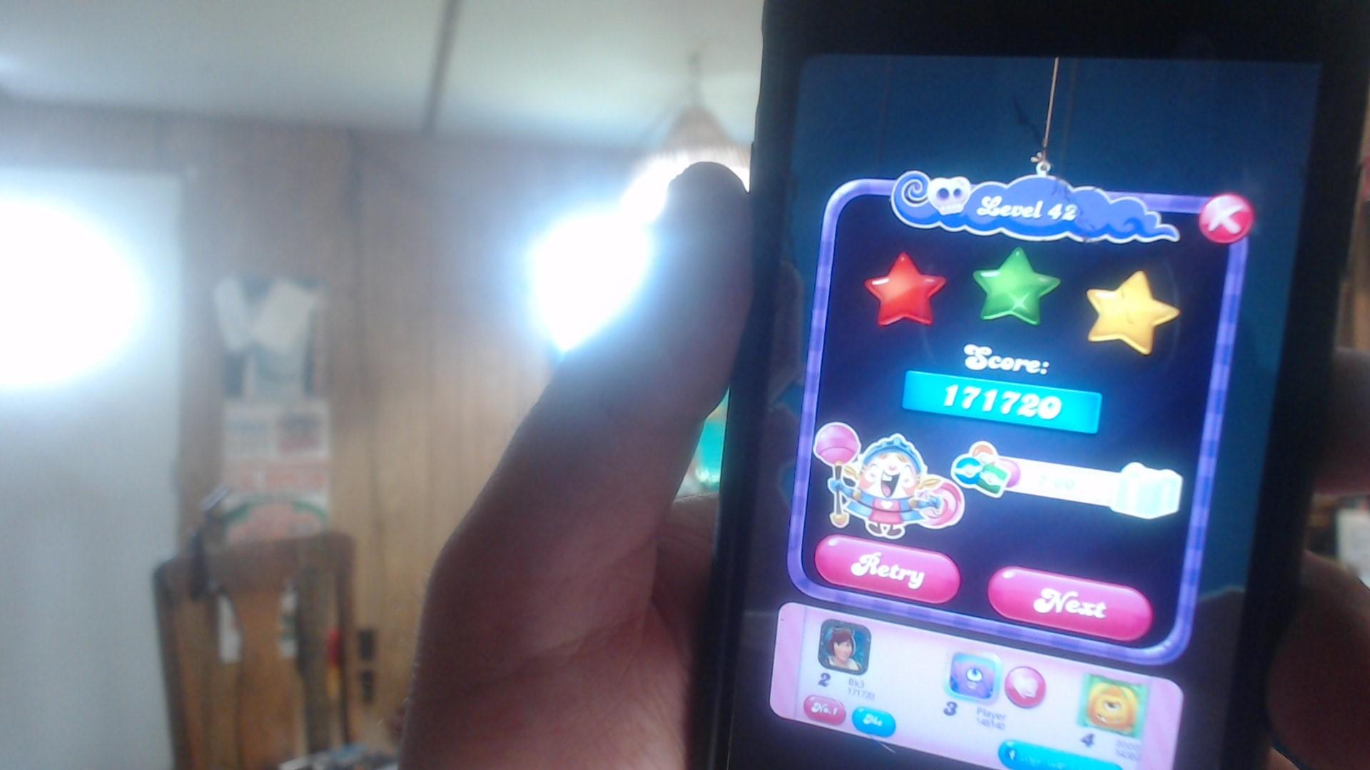 speedy4759123: Candy Crush Saga: Level 042 (iOS) 171,720 points on 2019-07-17 11:14:32