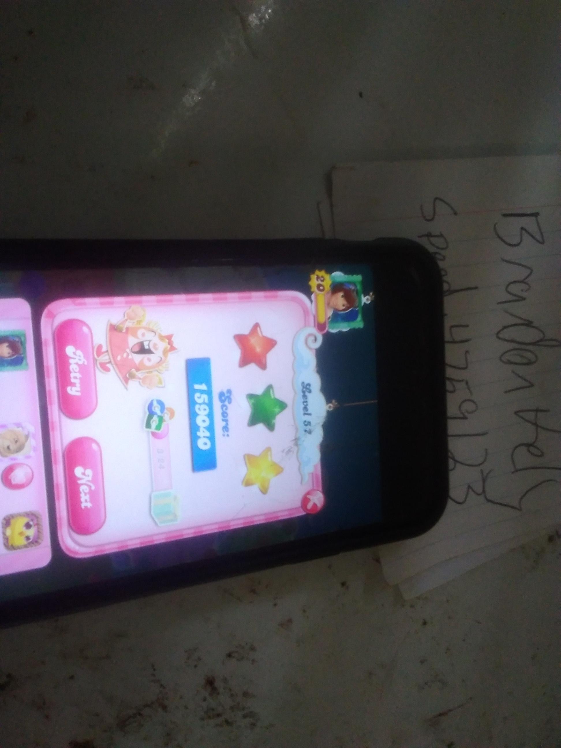 speedy4759123: Candy Crush Saga: Level 057 (iOS) 159,040 points on 2019-08-20 15:08:24