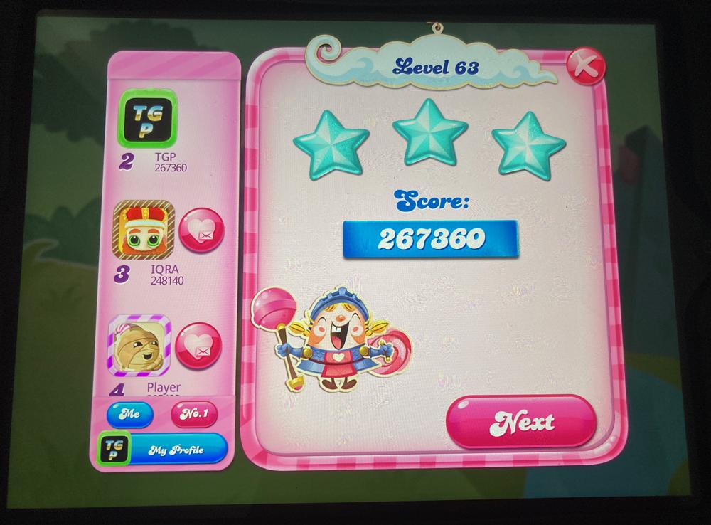 Candy Crush Saga: Level 063 267,360 points