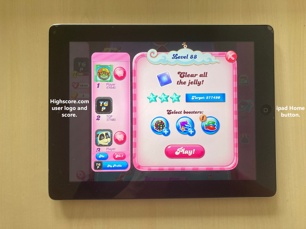 80sChips: Candy Crush Saga: Level 088 (iOS) 377,480 points on 2020-09-20 05:22:52