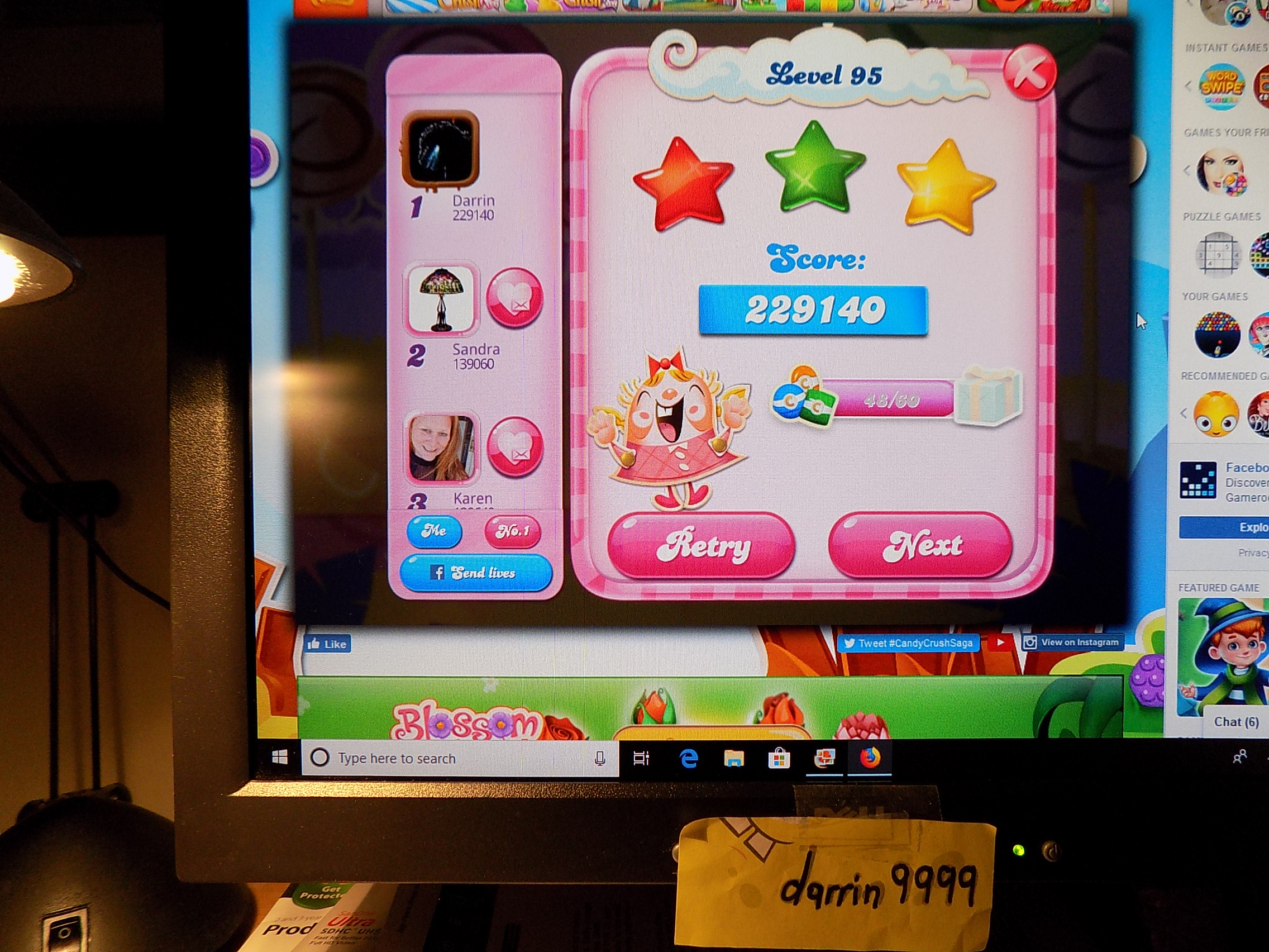 Candy Crush Saga: Level 095 229,140 points