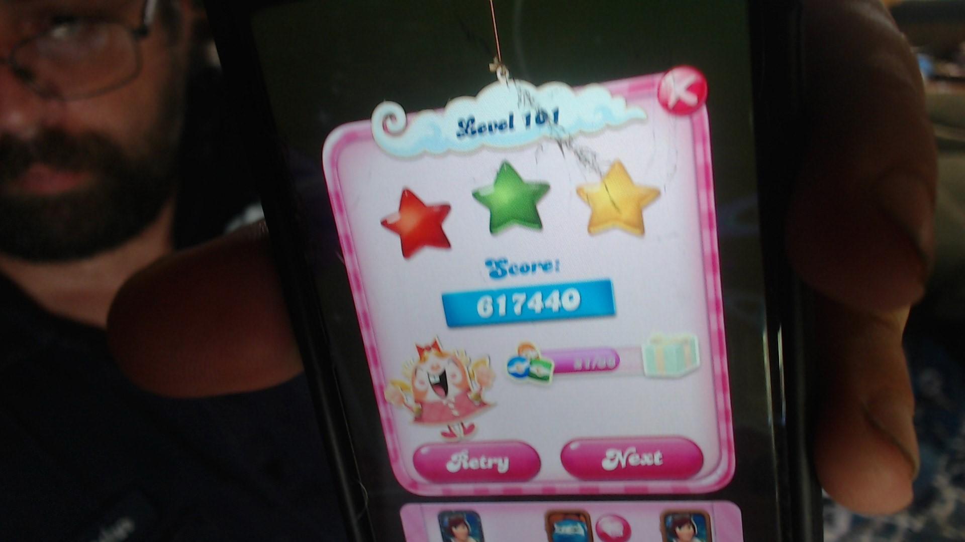 speedy4759123: Candy Crush Saga: Level 101 (iOS) 617,440 points on 2019-07-01 13:19:33