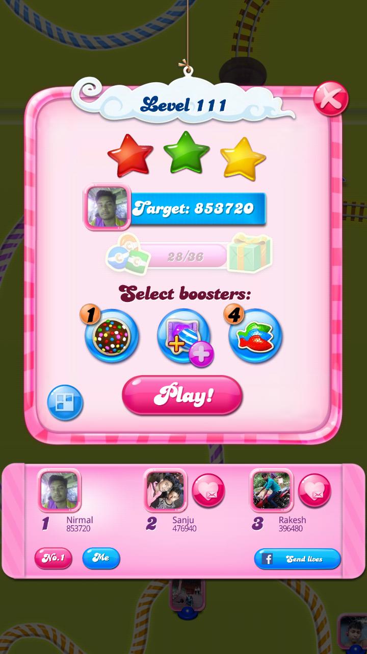 Candy Crush Saga: Level 111 853,720 points