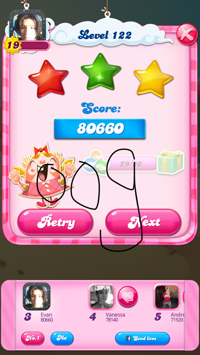 OOG: Candy Crush Saga: Level 122 (iOS) 80,660 points on 2018-04-01 14:23:06