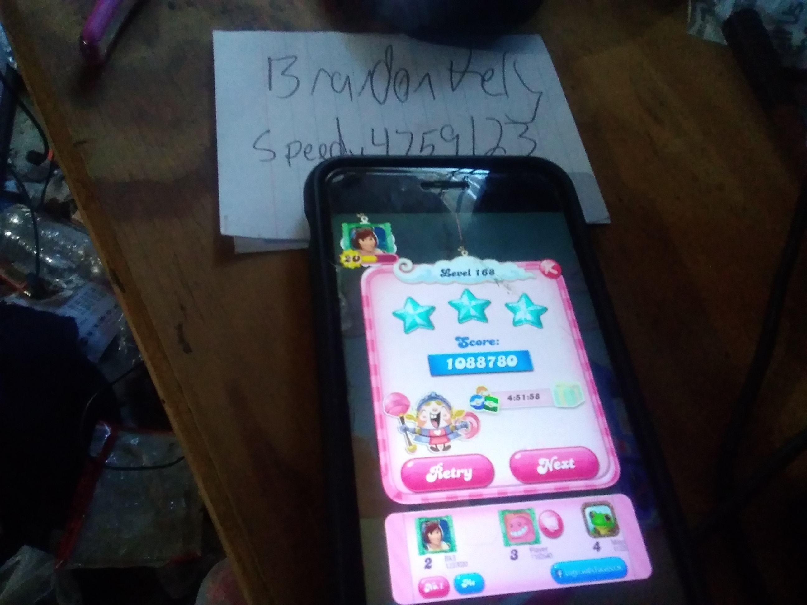 speedy4759123: Candy Crush Saga: Level 168 (iOS) 1,088,780 points on 2019-08-15 10:58:49