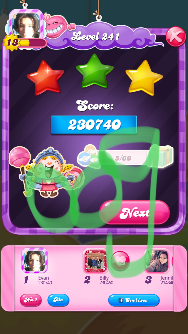 OOG: Candy Crush Saga: Level 241 (iOS) 230,740 points on 2018-03-09 06:28:00