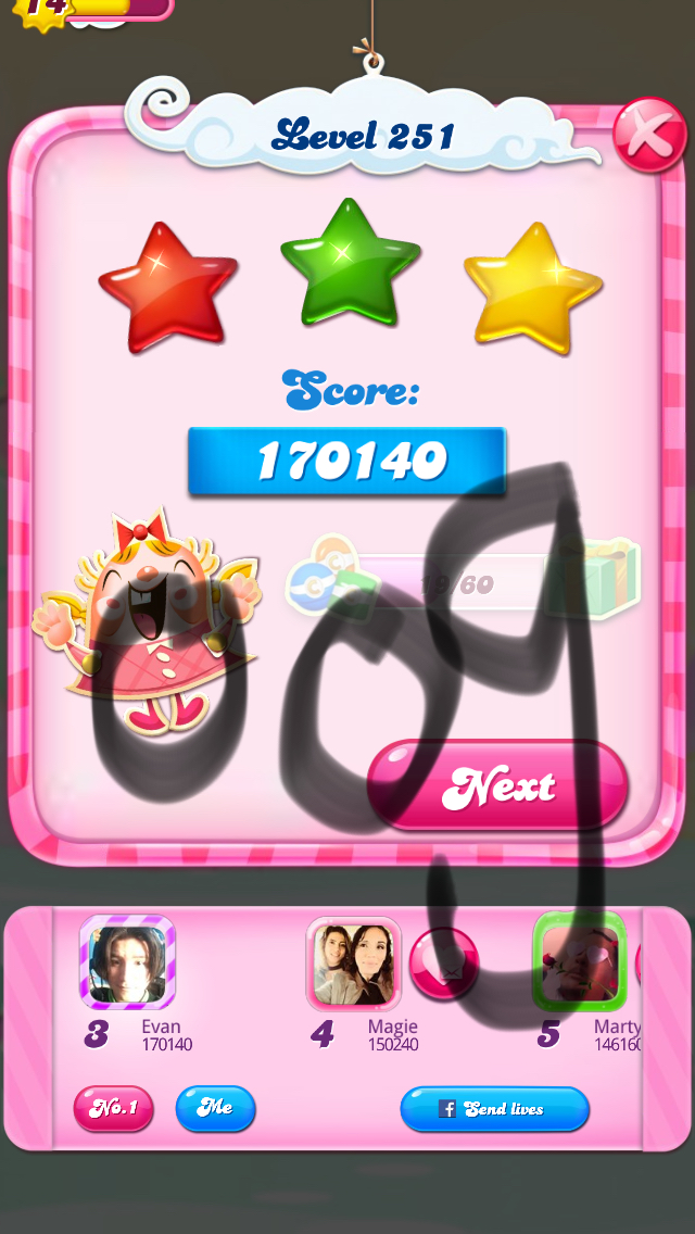 Candy Crush Saga: Level 251 170,140 points