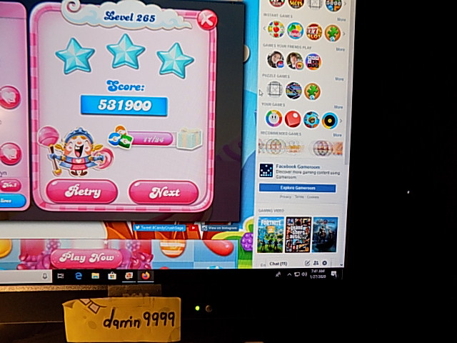 Candy Crush Saga: Level 265 531,900 points
