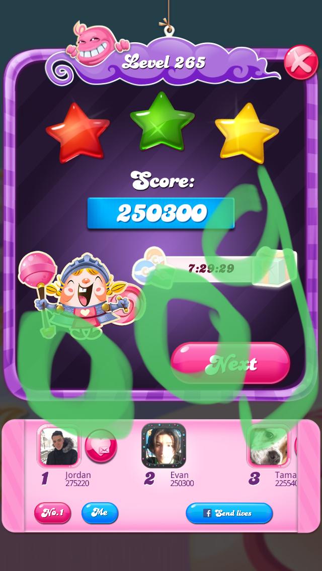 OOG: Candy Crush Saga: Level 265 (iOS) 250,300 points on 2018-03-16 04:24:23