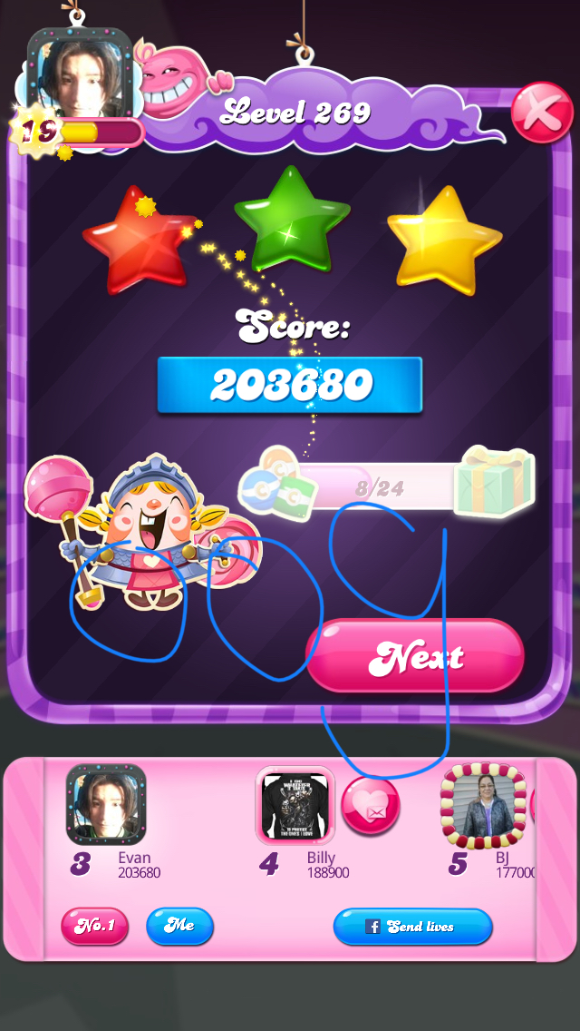 Candy Crush Saga: Level 269 203,680 points