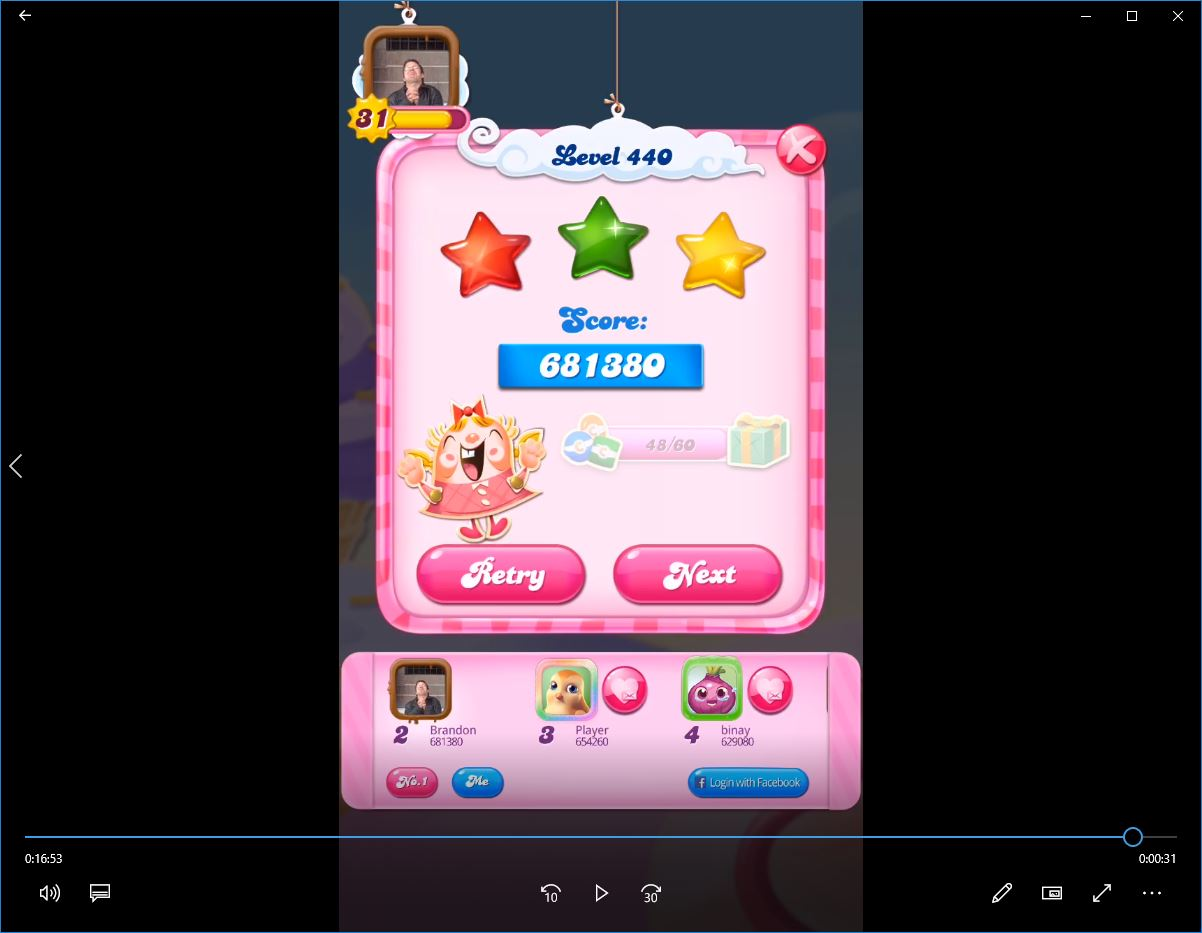Candy Crush Saga: Level 440 681,380 points
