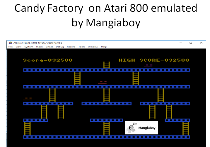 MangiaBoy: Candy Factory (Atari 400/800/XL/XE Emulated) 32,500 points on 2018-12-26 06:52:20