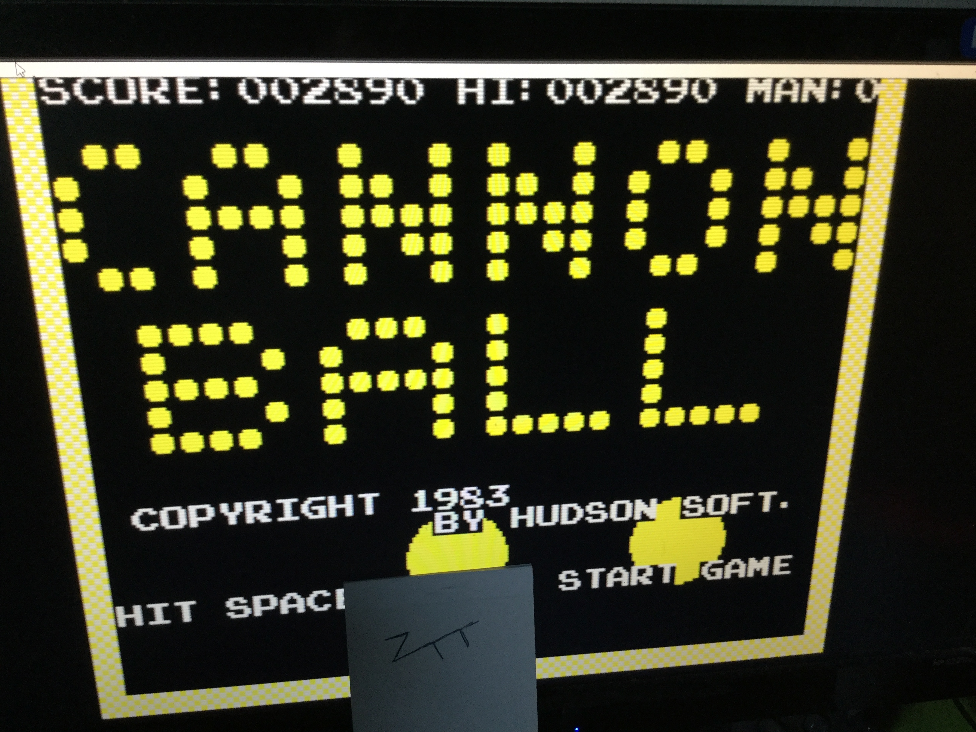 Frankie: Cannon Ball [Hudson Soft] (ZX Spectrum Emulated) 2,890 points on 2019-01-21 09:18:37