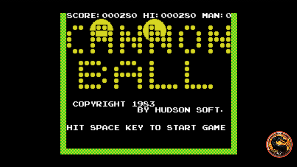 omargeddon: Cannon Ball (MSX Emulated) 280 points on 2019-11-03 01:01:26