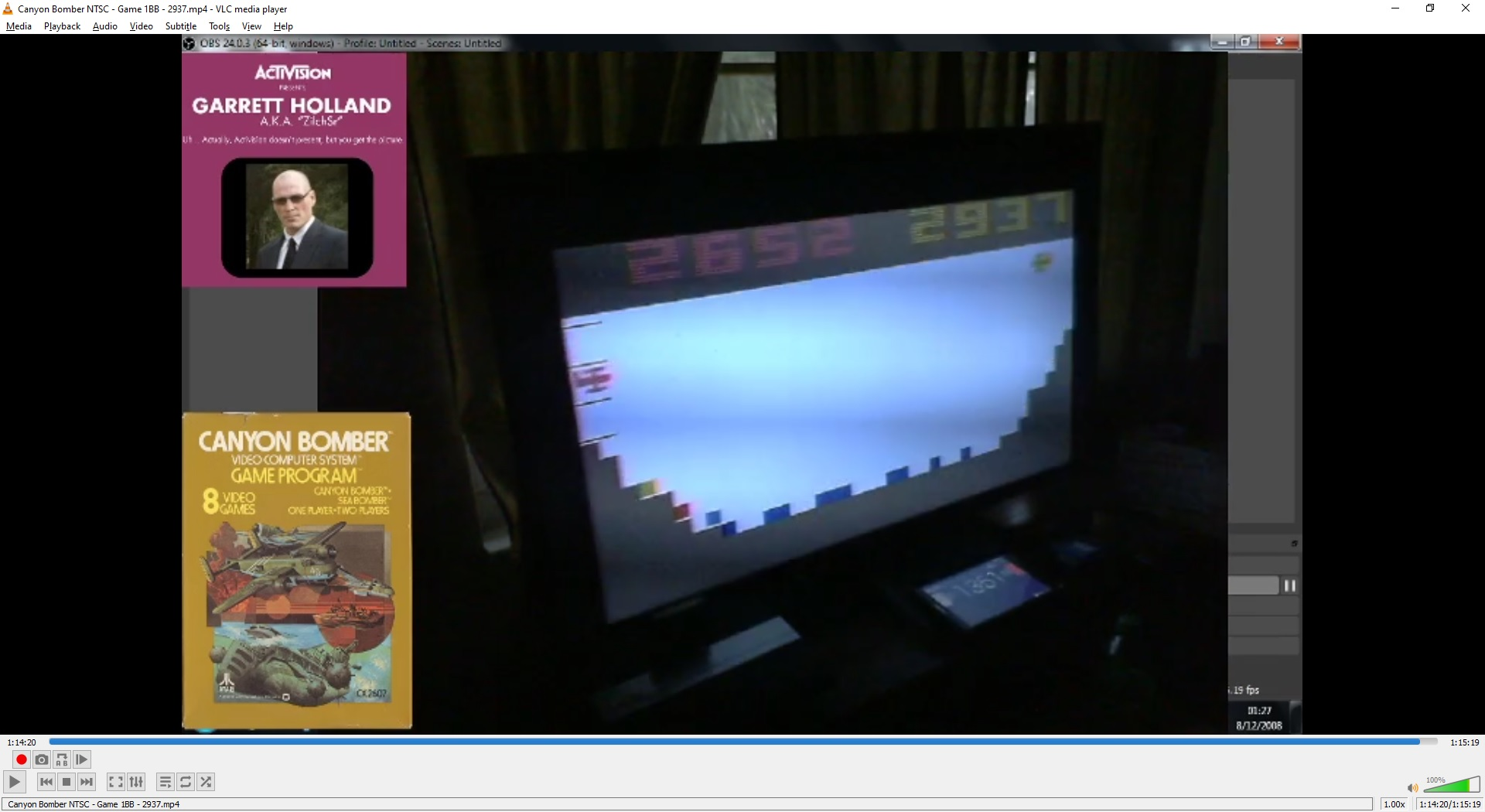 ZilchSr: Canyon Bomber (Atari 2600 Novice/B) 2,937 points on 2021-01-02 20:22:09