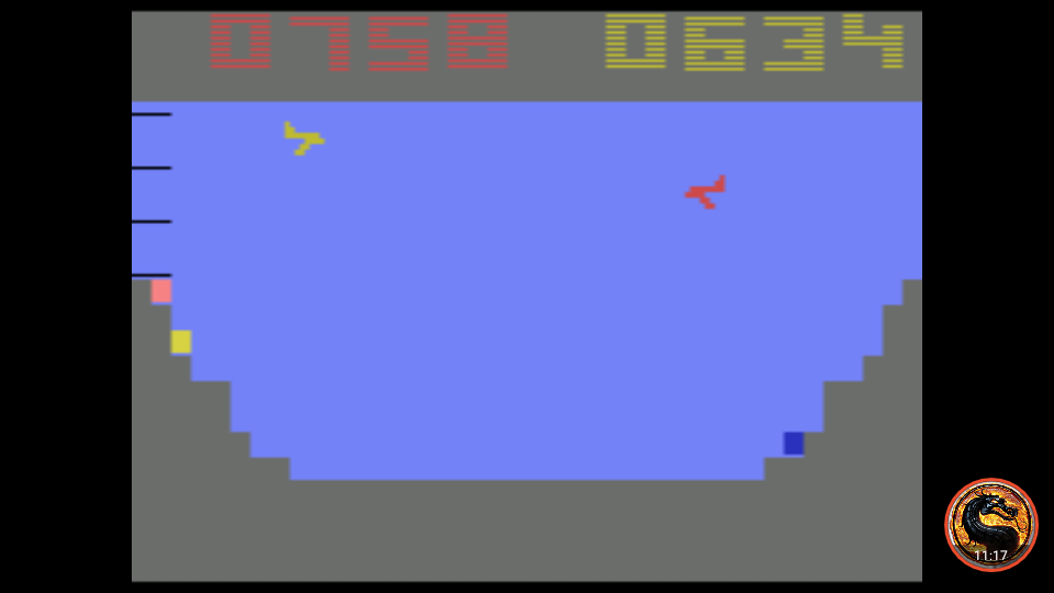 omargeddon: Canyon Bomber (Atari 2600 Emulated Novice/B Mode) 634 points on 2019-11-13 00:41:29
