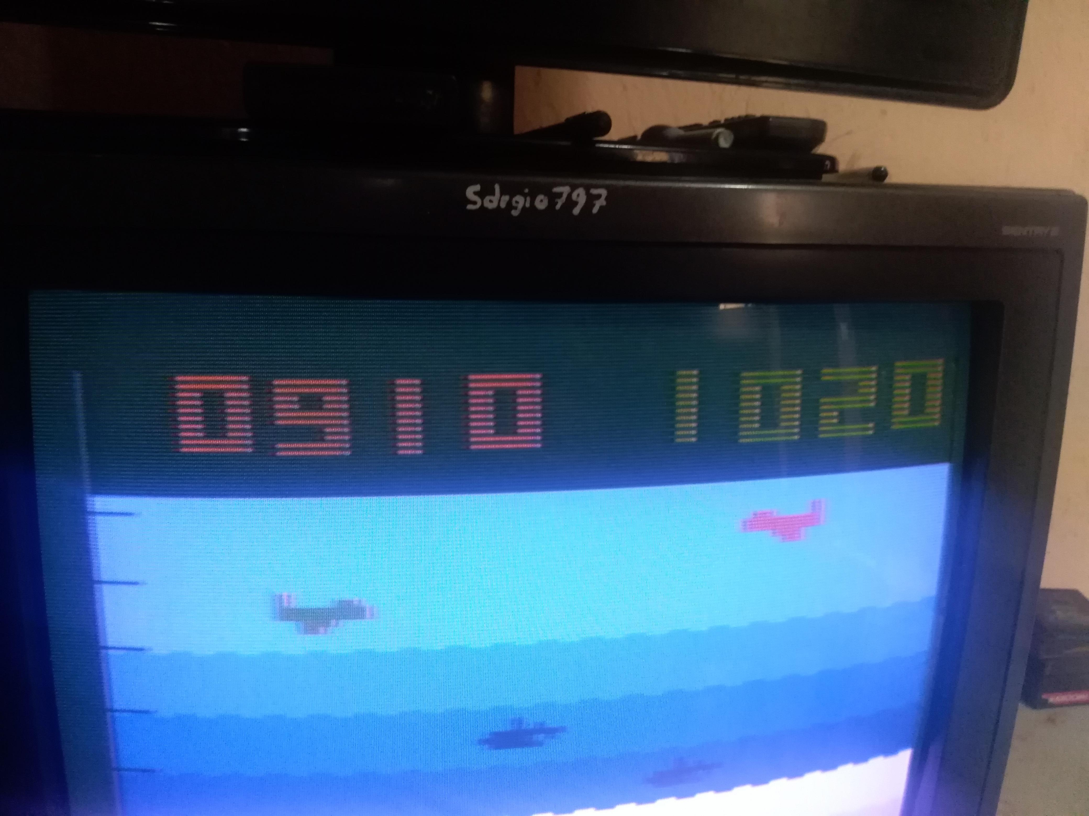 Sdrgio797: Canyon Bomber: Game 7 (Atari 2600 Novice/B) 1,020 points on 2020-07-05 02:30:41