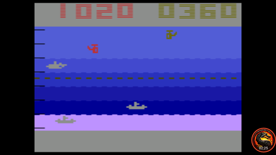 omargeddon: Canyon Bomber: Game 7 (Atari 2600 Emulated Novice/B Mode) 360 points on 2020-08-21 00:58:42