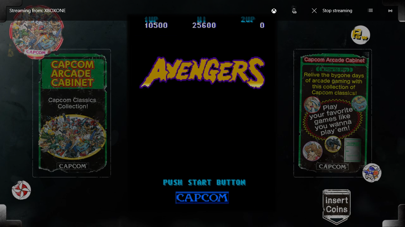 Capcom Arcade Cabinet: Avengers 10,500 points
