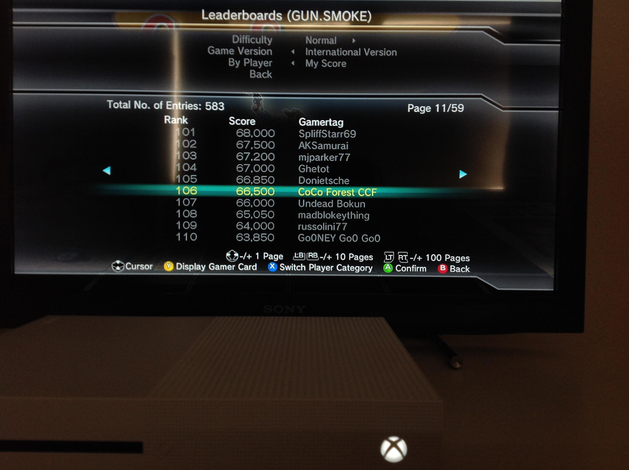 CoCoForest: Capcom Arcade Cabinet: Gun.Smoke (Xbox 360) 66,500 points on 2019-05-31 11:48:38