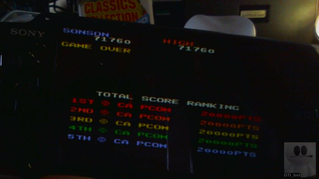 GTibel: Capcom Classics Collection Reloaded: SonSon (PSP) 71,760 points on 2018-04-07 02:39:13