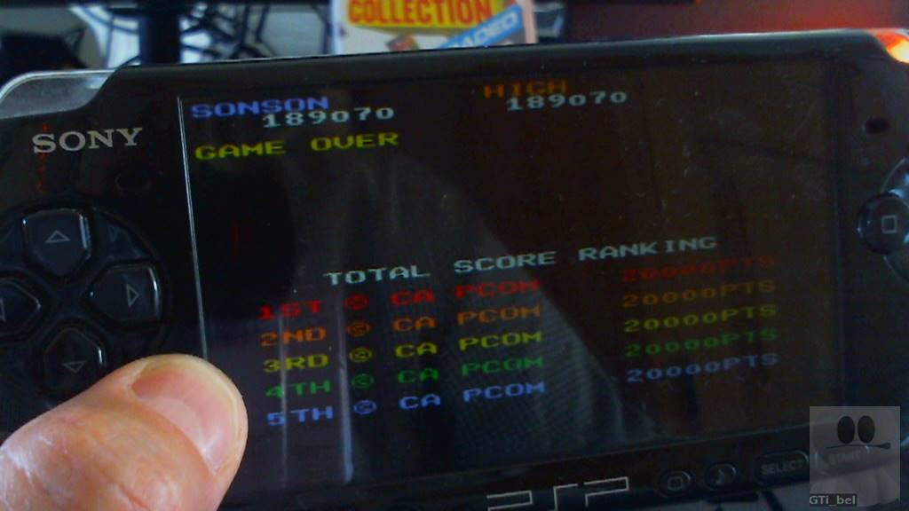 Capcom Classics Collection Reloaded: SonSon 189,070 points