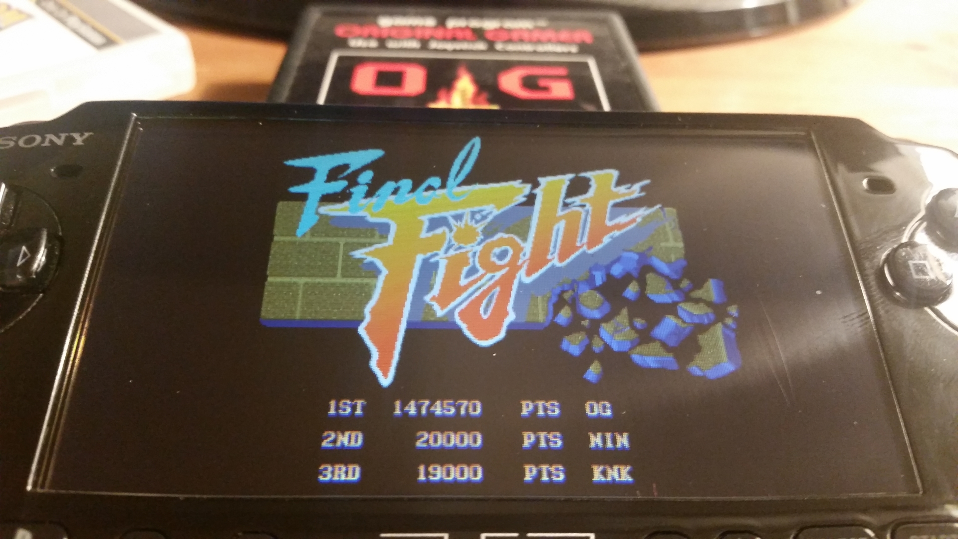 OriginalGamer: Capcom Classics Collection Remixed: Final Fight [Game Settings Normal] (PSP) 1,474,570 points on 2018-01-25 00:29:13