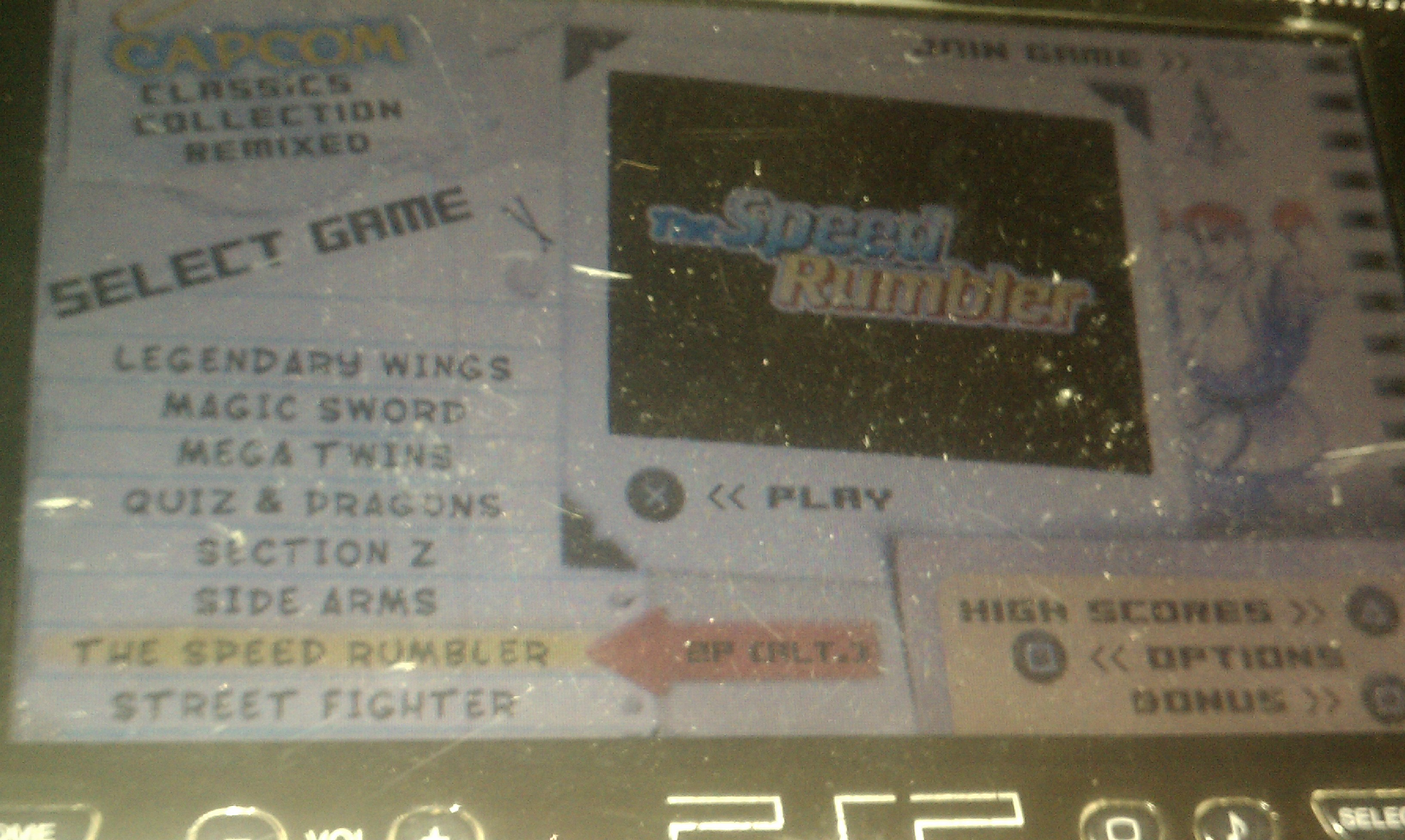 S.BAZ: Capcom Classics Collection Remixed: The Speed Rumbler [Game Settings Super Easy] (PSP) 6,500 points on 2018-09-25 19:23:45
