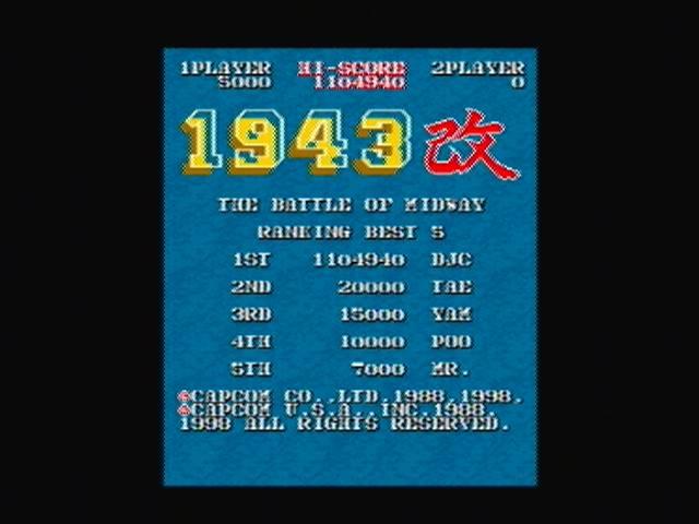 derek: Capcom Classics Vol 1: 1943 Kai (Playstation 2) 1,104,940 points on 2017-04-03 14:18:00