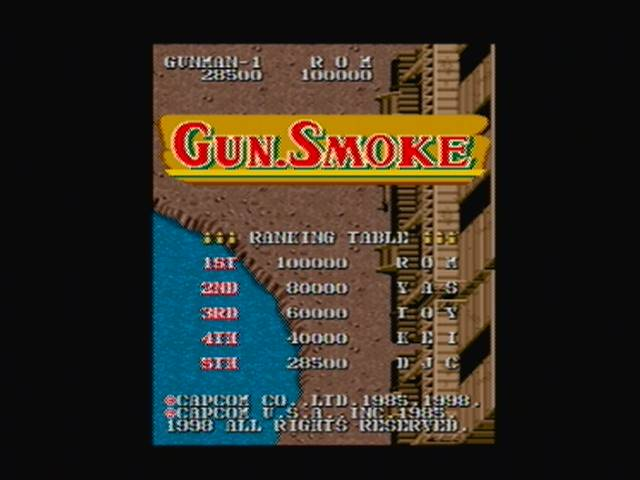 derek: Capcom Classics Vol 1: Gunsmoke (Playstation 2) 28,500 points on 2016-03-05 23:02:08