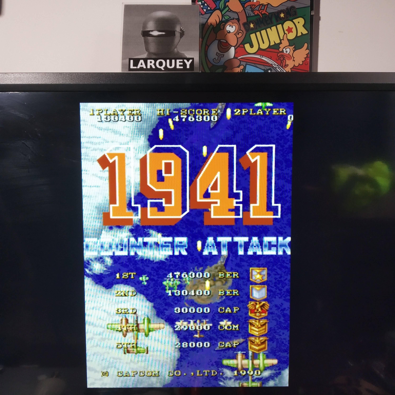 Larquey: Capcom Classics Vol 2: 1941 Counter Attack [Hard] (Playstation 2 Emulated) 130,400 points on 2020-08-12 13:14:56