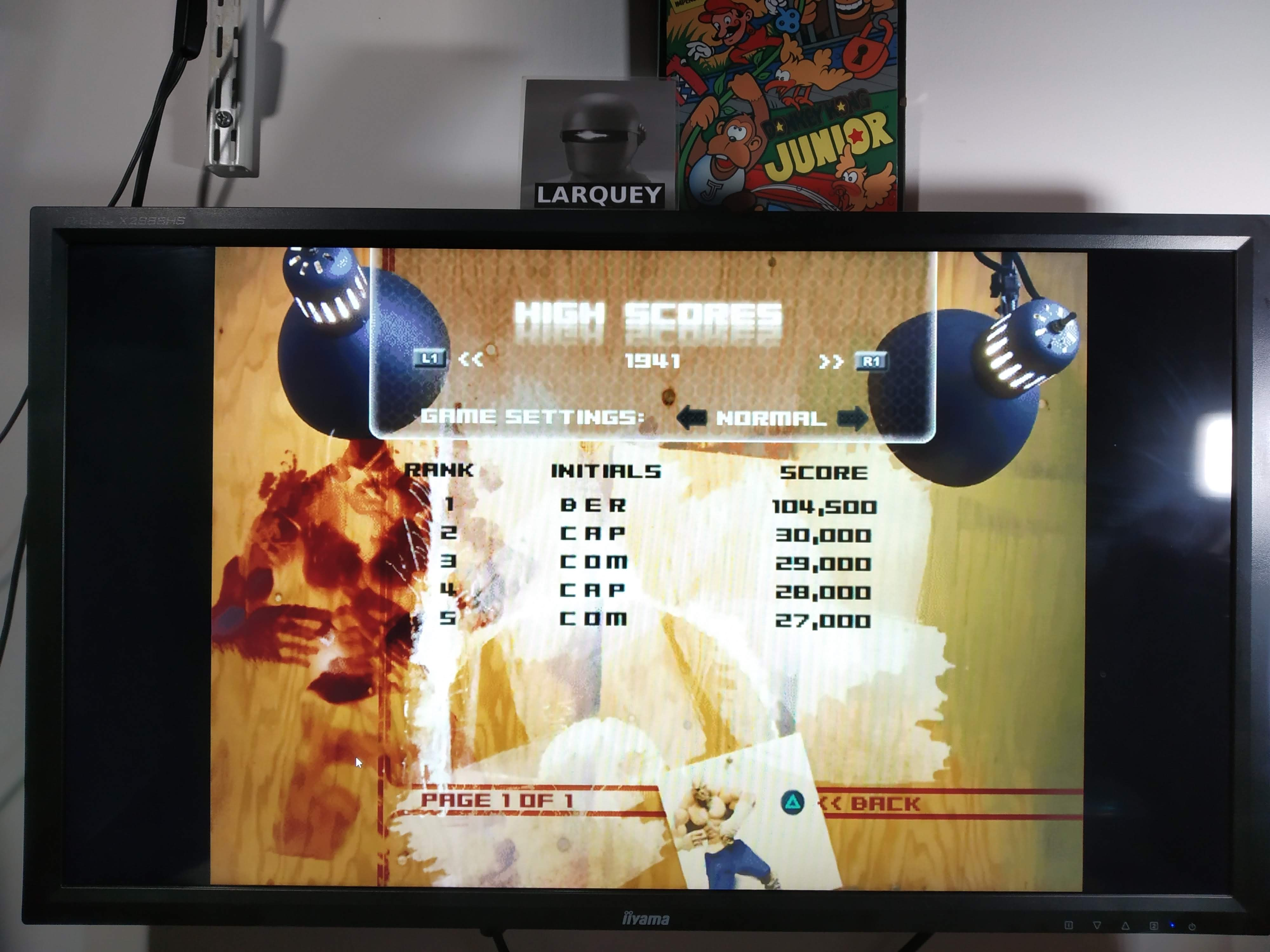 Larquey: Capcom Classics Vol 2: 1941 Counter Attack [Normal] (Playstation 2 Emulated) 104,500 points on 2020-08-01 11:23:45
