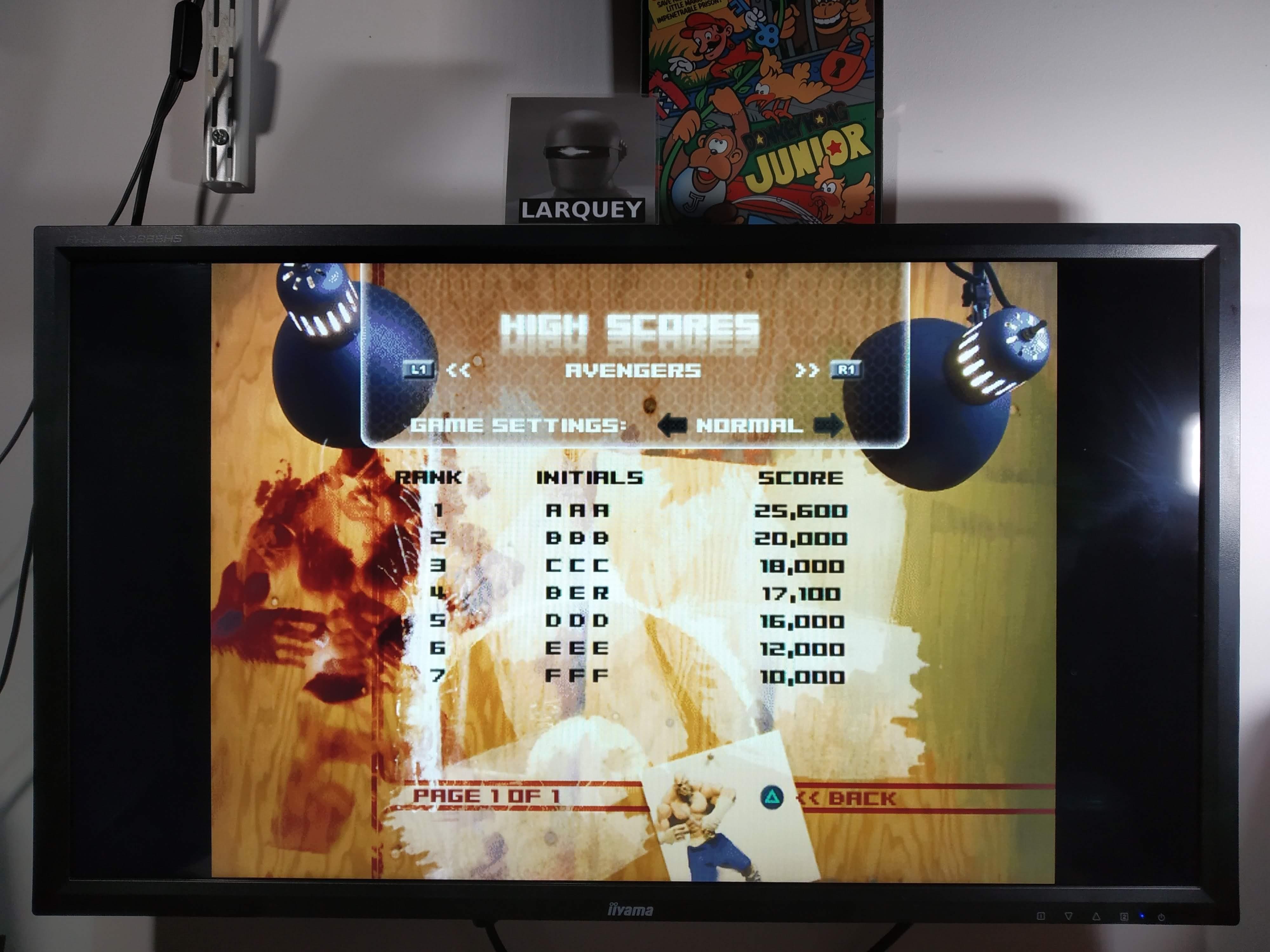 Larquey: Capcom Classics Vol 2: Avengers [Normal] (Playstation 2 Emulated) 17,100 points on 2020-08-01 11:33:57