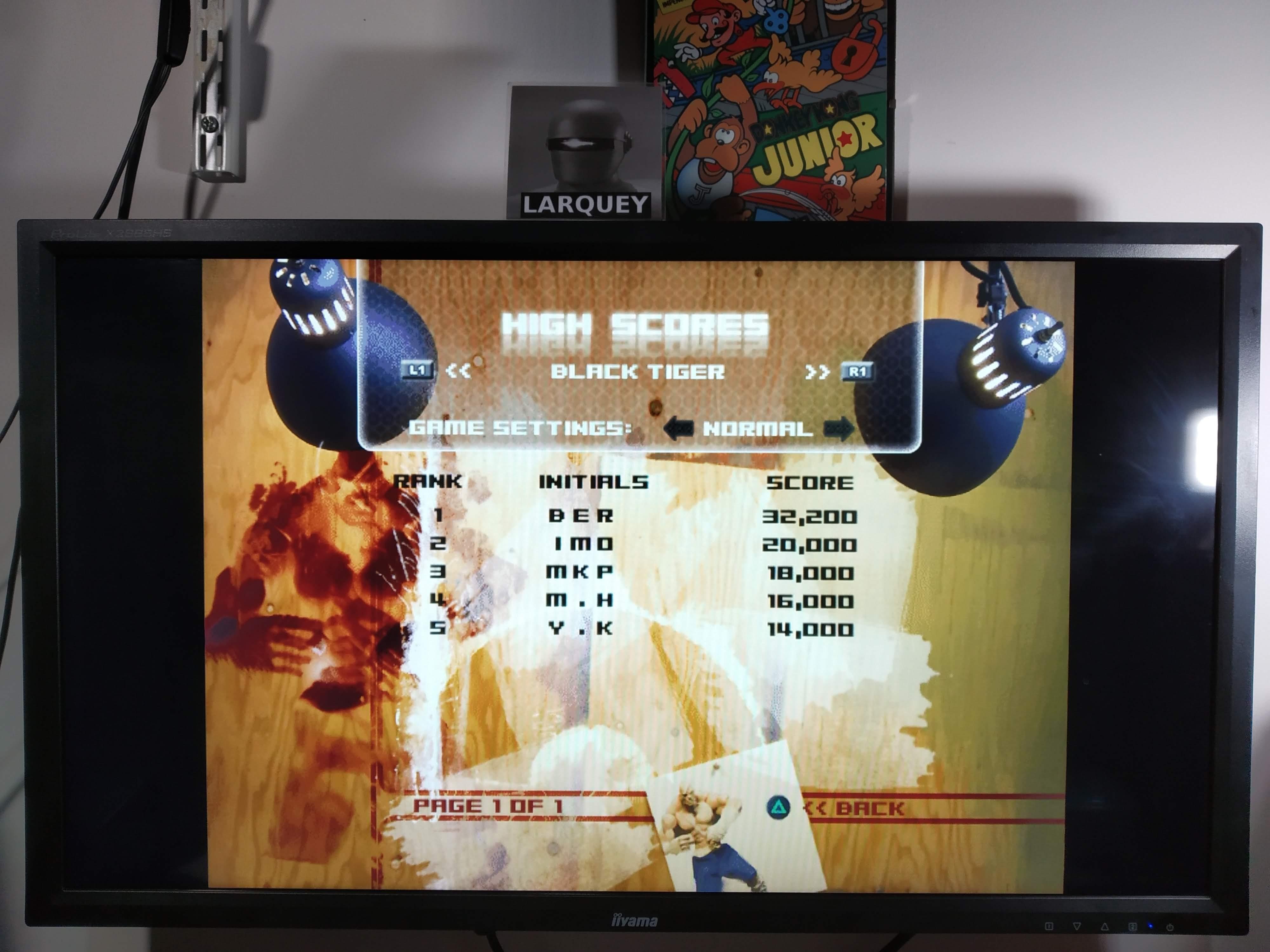 Larquey: Capcom Classics Vol 2: Black Tiger [Normal] (Playstation 2 Emulated) 32,200 points on 2020-08-01 11:20:54