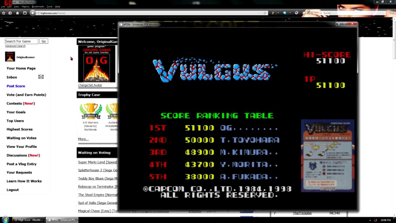 OriginalGamer: Capcom Generations 3: Vulgus (Playstation 1 Emulated) 51,100 points on 2015-11-13 02:06:20