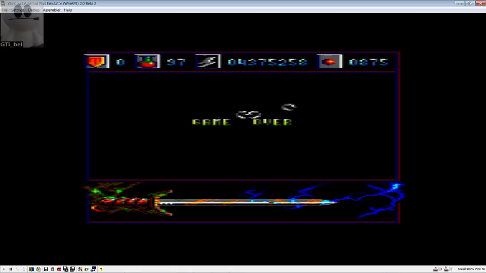 GTibel: Capitan Trueno [Part 2] (Amstrad CPC Emulated) 4,375,258 points on 2016-07-27 12:25:19