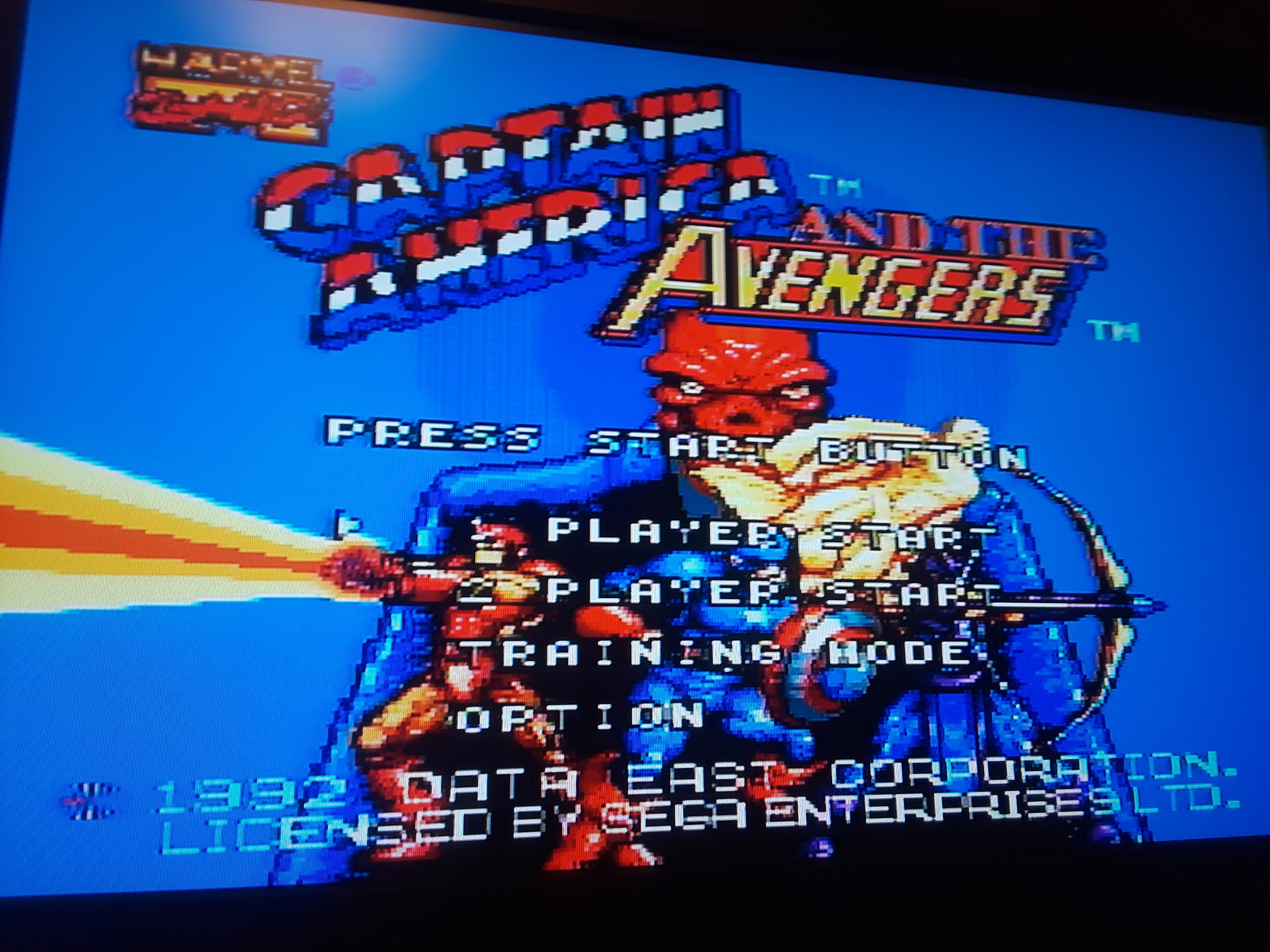 JML101582: Captain America and the Avengers [Normal] (Sega Genesis / MegaDrive Emulated) 11,379 points on 2018-08-03 23:41:55
