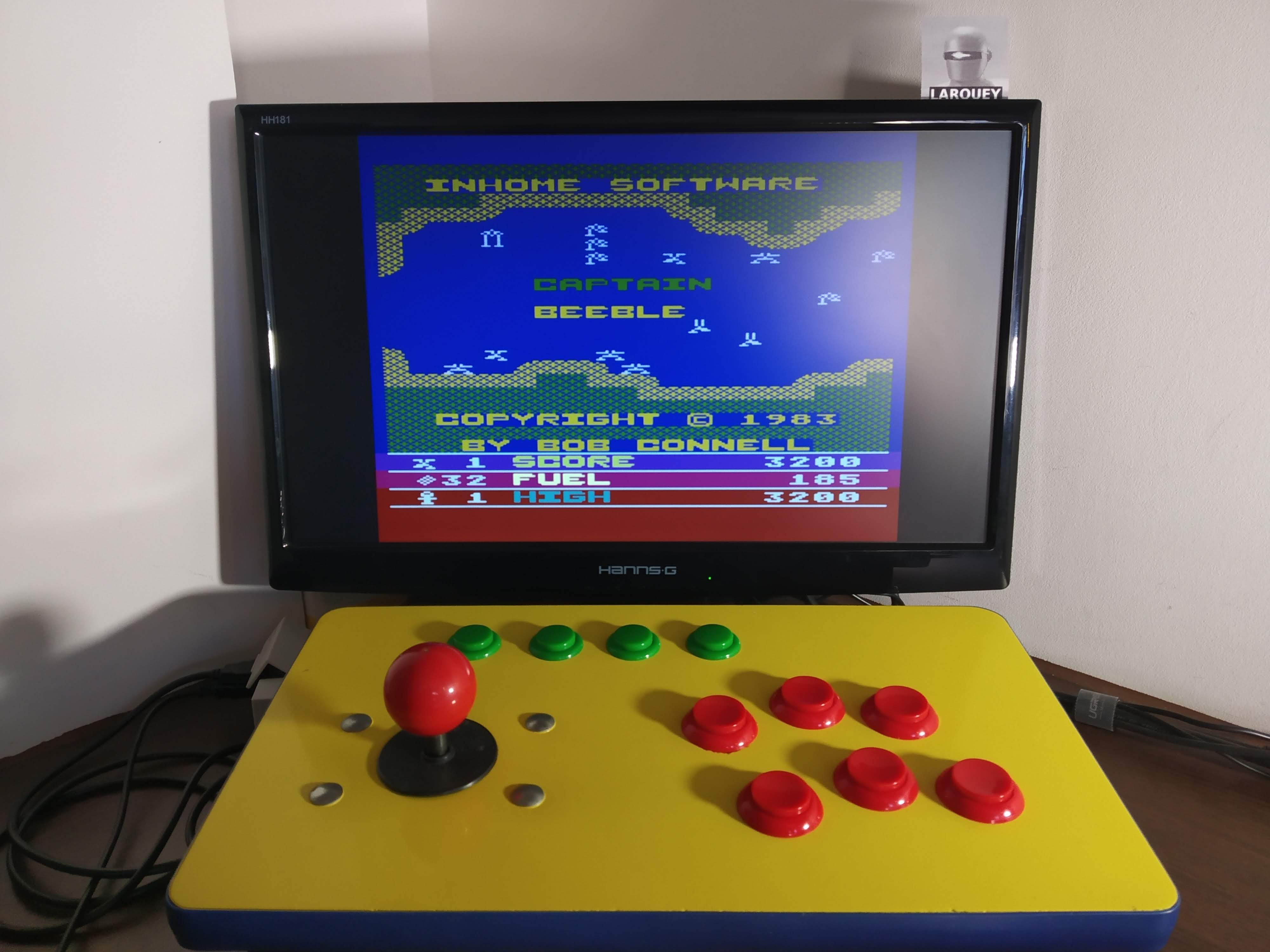 Larquey: Captain Beeble (Atari 400/800/XL/XE Emulated) 3,200 points on 2020-01-01 09:45:35