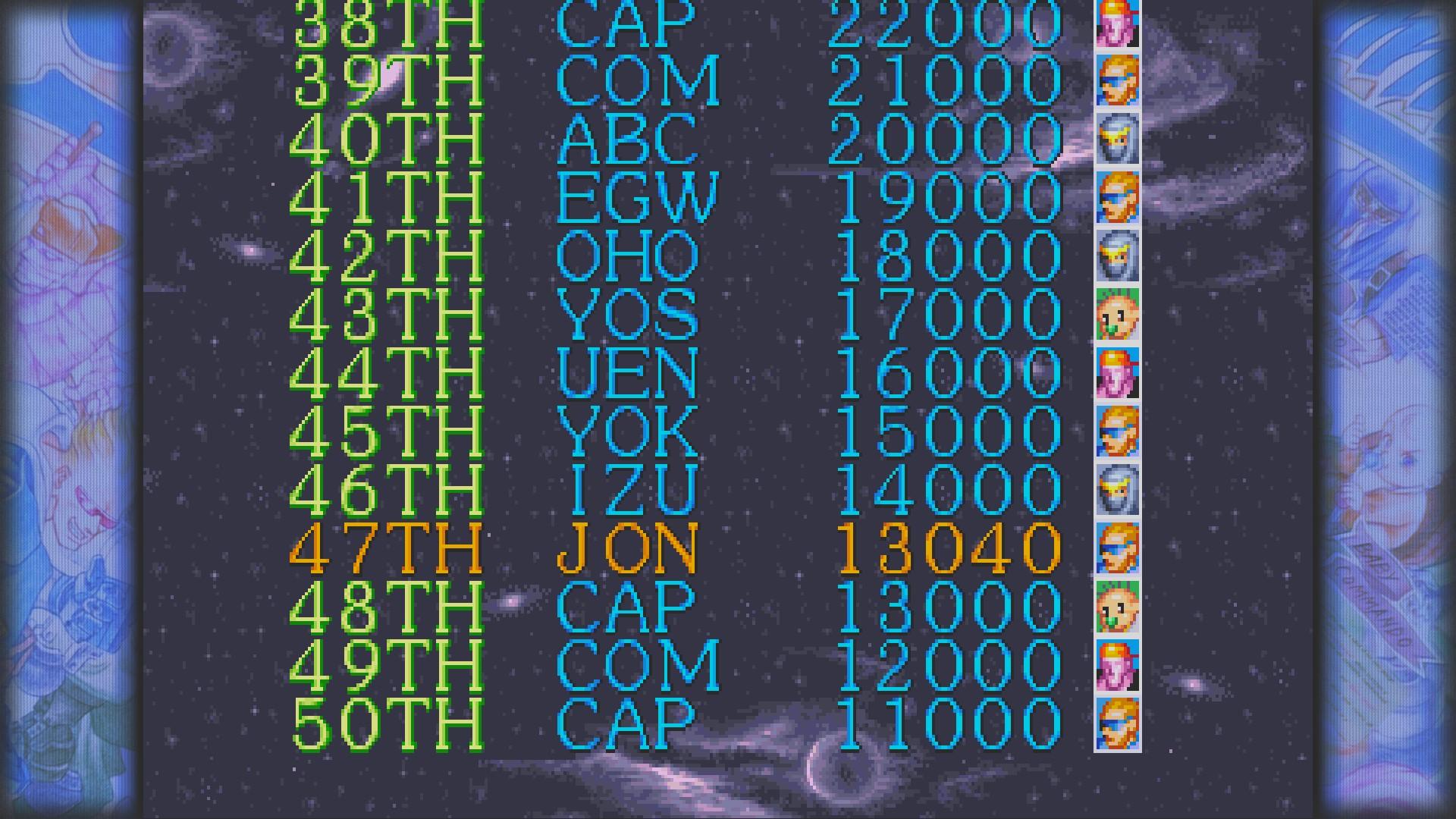 Captain Commando 13,040 points