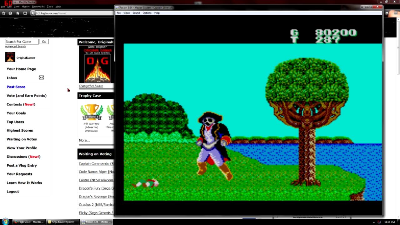 OriginalGamer: Captain Silver (Sega Master System Emulated) 80,200 points on 2015-09-11 21:53:09