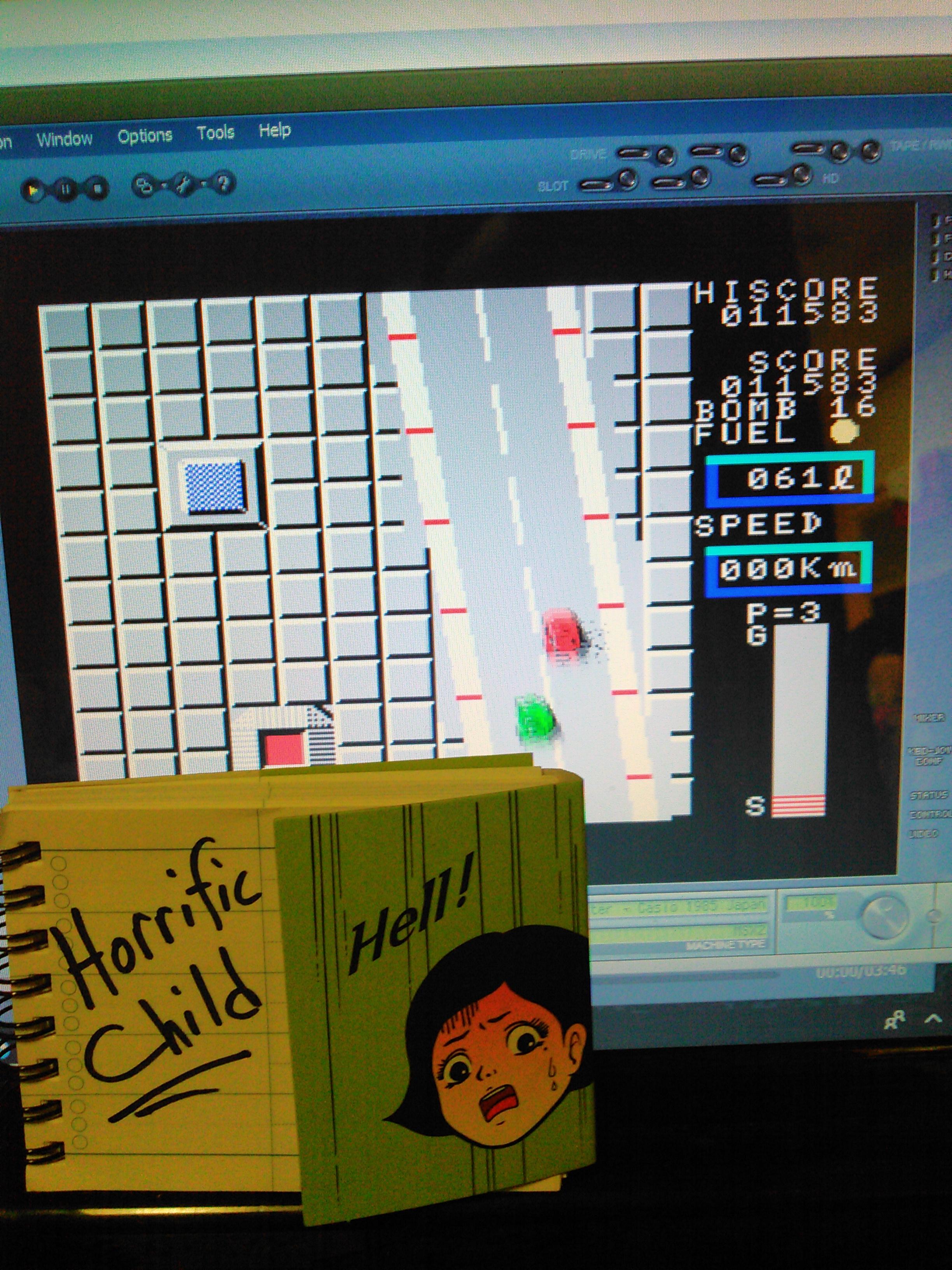 HorrificChild: Car Fighter (MSX Emulated) 11,583 points on 2018-02-06 08:27:04