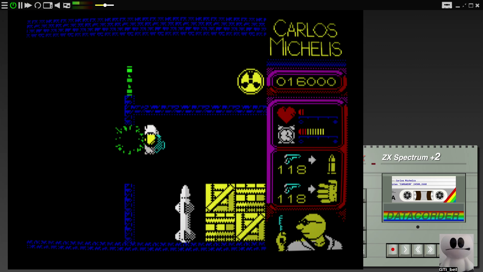 GTibel: Carlos Michelis [Mansion] [Normal] (ZX Spectrum Emulated) 16,000 points on 2020-08-29 07:38:40