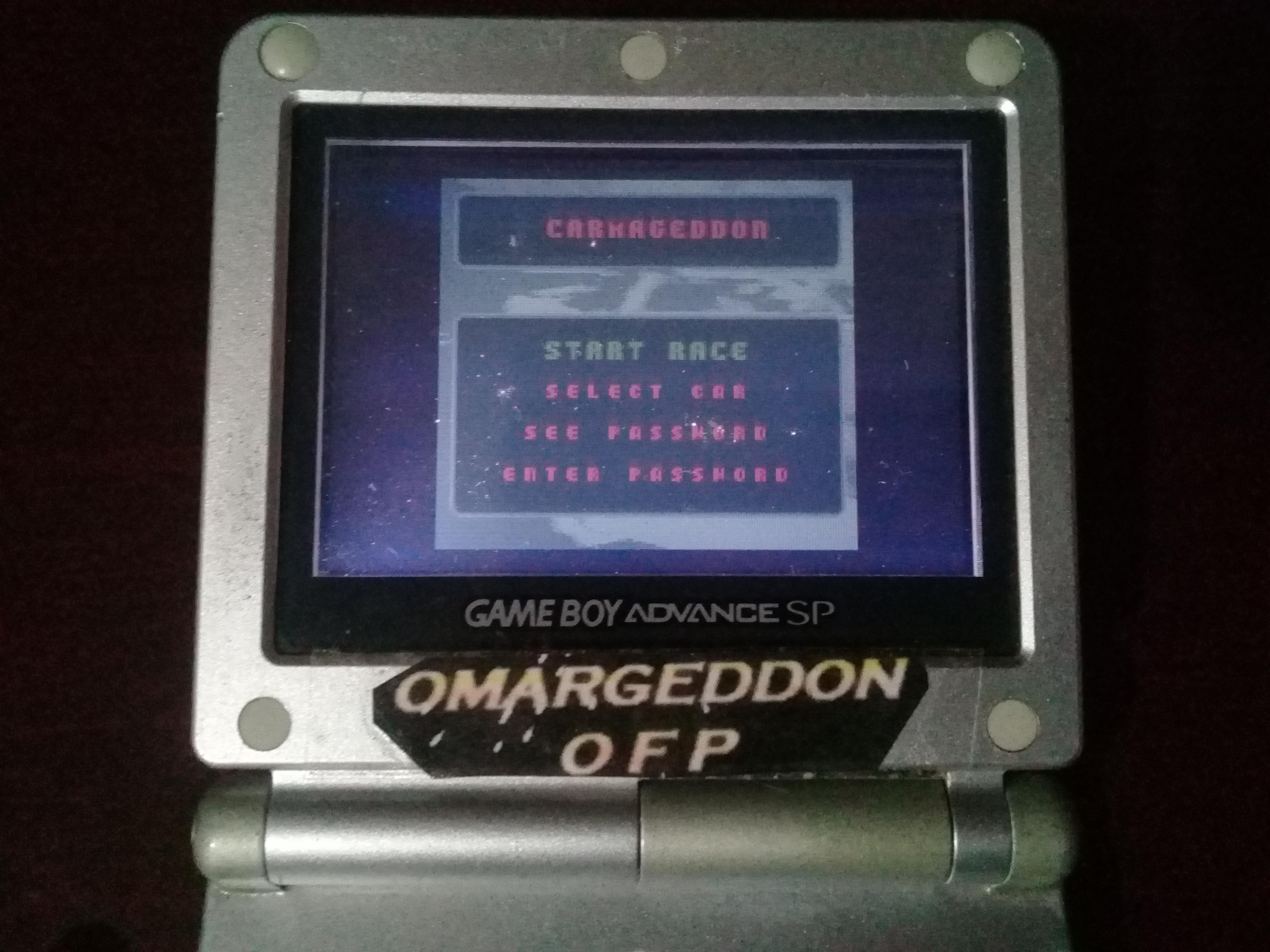 omargeddon: Carmageddon (Game Boy Color) 13,050 points on 2019-05-24 11:08:36