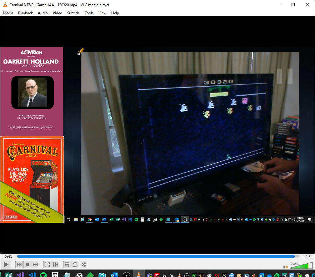 ZilchSr: Carnival (Atari 2600 Expert/A) 130,320 points on 2019-05-31 18:54:15